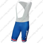2017 Team LOTTO JUMBO Netherlands Cycling Bib Shorts Bottoms Blue