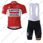 2017 Team LOTTO SOUDAL Cycling Bib Kit Red