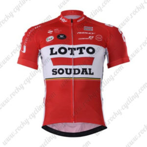 2017 Team LOTTO SOUDAL Cycling Jersey Maillot Shirt Red
