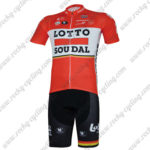 2017 Team LOTTO SOUDAL Cycling Kit Red