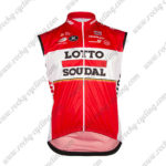 2017 Team LOTTO SOUDAL Cycling Vest Sleeveless Waistcoat Rain-proof Windbreak Red