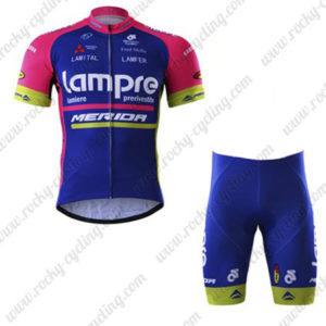 2017 Team Lampre MERIDA Bike Riding Kit Blue Pink