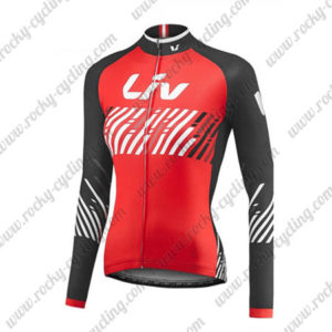 2017 Team Liv Womens Ladies Biking Long Jersey Maillot Red Black