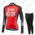 2017 Team Liv Womens Ladies Biking Long Sleeves Suit Red Black