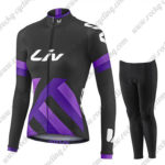 2017 Team Liv Womens Ladies Biking Long Suit Black Purple