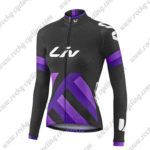 2017 Team Liv Womens Ladies Cycle Long Jersey Maillot Black Purple