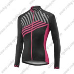 2017 Team Liv Womens Ladies Riding Long Jersey Maillot Black Pink