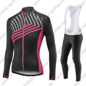 2017 Team Liv Womens Ladies Riding Long Sleeves Bib Suit Black Pink