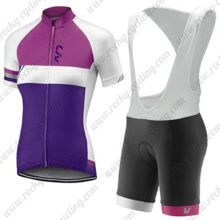 2017 Team Liv Womens Ladies  Riding Outfit Cycle Jersey and Padded Bib  Shorts Pink Purple 025e10222