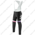 2017 Team Liv Womens Lady Cycling Long Bib Pants Tights Black Red Purple