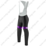 2017 Team Liv Womens Lady Cycling Long Bib Pants Tights Purple