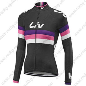 2017 Team Liv Womens Lady Cycling Long Jersey Maillot Black Red Purple