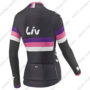 2017 Team Liv Womens Lady Riding Long Jersey Maillot Black Red Purple