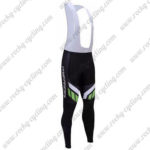 2017 Team MERIDA Biking Long Bib Pants Tights Black White Green