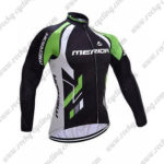 2017 Team MERIDA Biking Long Jersey Maillot Black White Green