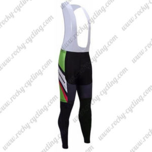 2017 Team MERIDA Cycle Bib Pants Tights Black Green Pink
