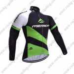 2017 Team MERIDA Cycling Long Jersey Maillot Black Green