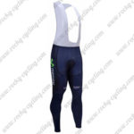 2017 Team Movistar Cycling Long Bib Pants Tights Blue