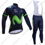 2017 Team Movistar Cycling Long Bib Suit Blue