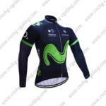 2017 Team Movistar Cycling Long Jersey Maillot Blue2017 Team Movistar Cycling Long Jersey Maillot Blue