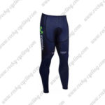 2017 Team Movistar Cycling Long Pants Tights Blue