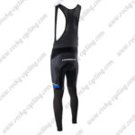 2017 Team ORBEA Cycle Long Bib Pants Tights Black Blue White