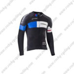 2017 Team ORBEA Cycle Long Jersey Maillot Black Blue White