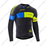 2017 Team ORBEA Cycle Long Jersey Maillot Black Blue Yellow