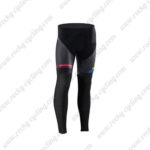 2017 Team ORBEA Cycle Long Pants Tights Black Blue Yellow