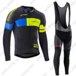 2017 Team ORBEA Riding Long Bib Suit Black Blue Yellow