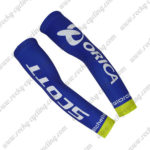 2017 Team ORICA SCOTT Cycling Arm Warmers Sleeve Blue