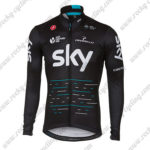 2017 Team SKY Castelli Cycling Long Jersey Maillot Black Blue