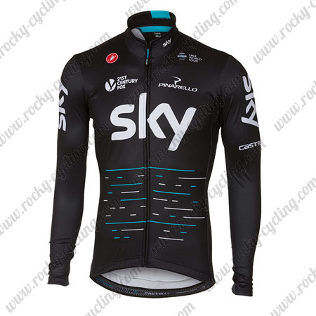 ... Winter Cycle Wear Thermal Fleece Riding Long Sleeves Jersey Maillot  Black. 2017 Team SKY Castelli Cycling Long Jersey Maillot Black Blue a33dccb0f