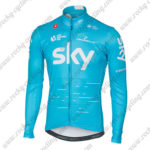 2017 Team SKY Castelli Cycling Long Jersey Maillot Blue White