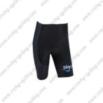 2017 Team SKY Cycle Shorts Bottoms Black Blue Waves