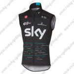 2017 Team SKY PINARELLO Cycling Vest Sleeveless Waistcoat Rain-proof Windbreak Black