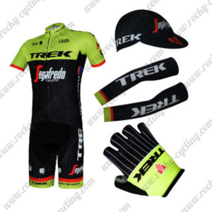 2017 Team TREK Cycling Combo Set Yellow Black 5-pieces