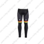2017 Team TREK Segafredo Biking Long Pants Tights Yellow Black