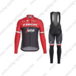 2017 Team TREK Segafredo Cycling Long Bib Suit Red Black