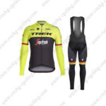 2017 Team TREK Segafredo Cycling Long Bib Suit Yellow Black