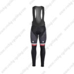 2017 Team TREK Segafredo Riding Long Bib Pants Tights Red Black