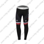 2017 Team TREK Segagredo Cycle Long Pants Tights Black Red