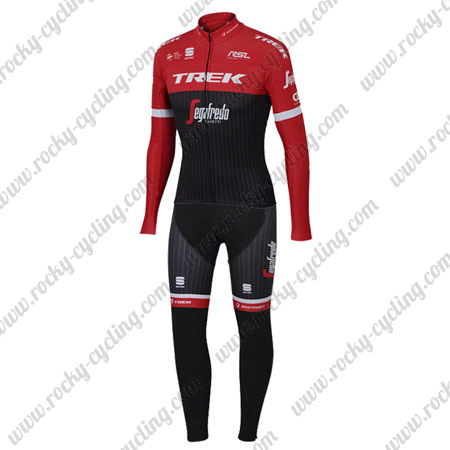 2017 Team TREK Segafredo Cycle Apparel Riding Long Jersey and Padded ... 614700e0e