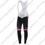 2017 Team TREK Segagredo Riding Long Bib Pants Tights Black Red