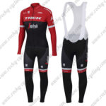 2017 Team TREK Segagredo Riding Long Bib Suit Red Black