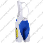 2017 Team Topsport Baloise Cycle Bib Shorts Bottoms White Blue Yellow