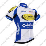 2017 Team Topsport Baloise Cycle Jersey Maillot Shirt White Blue Yellow