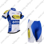 2017 Team Topsport Baloise Cycle Kit White Blue Yellow