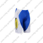 2017 Team Topsport Baloise Cycle Shorts Bottoms White Blue Yellow
