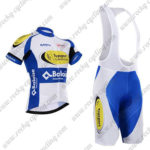 2017 Team Topsport Baloise Cycling Bib Kit White Blue Yellow